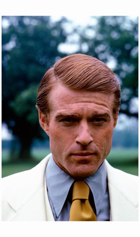 Robert Redford channels the indomitable Gatsby for Vogue (December 1973) on the set of the 1970s film