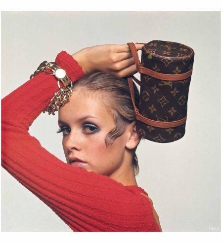 Twiggy - Louis Vuitton Bag Vogue, October 15, 1967 Bert Stern