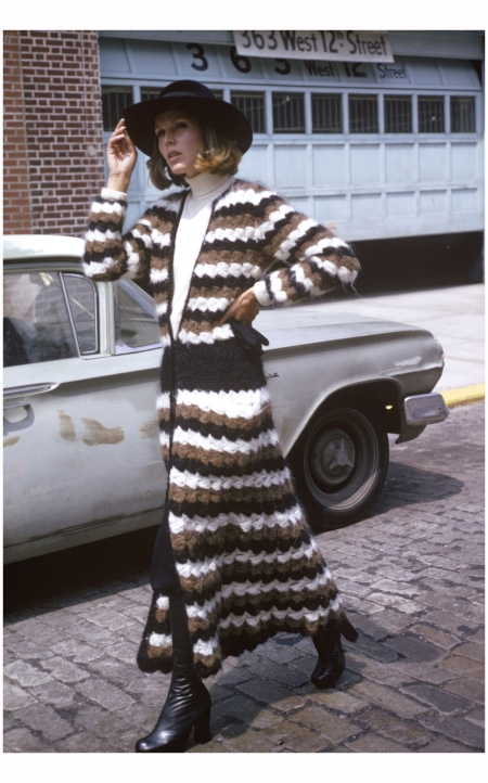 West 12th Street in Manhattan, New York, New York, 1974. The photo was taken as part of a fashion shoot for Women's Own magazine Photo Susan Wood