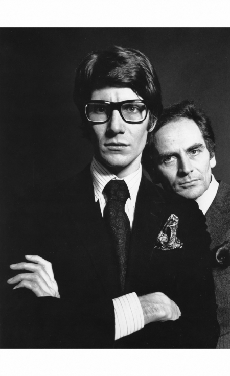 Yves Saint Laurent and Pierre Cardin 1965 Willy Rizzo