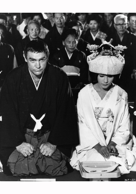 Bond and Kissy Suzuki had a son in Ian Fleming's version of %22You Only Live Twice%22 Sean Connery and Mie Hama stage a fake Japanese wedding in a scene from the film 'You Only Live Twice', 1967