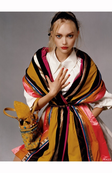 Gemma Ward  %22Charm School%22 Louis Vuitton Vogue Jan 2006 Steven Meisel