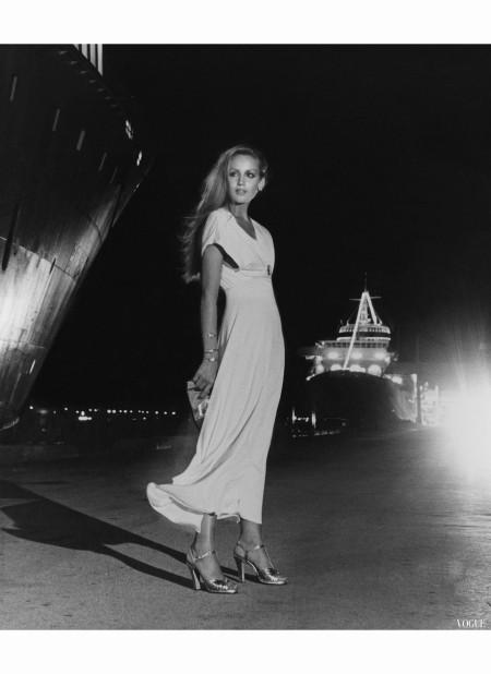 Jerry Hall Vogue, January 1975 Helmut Newton b