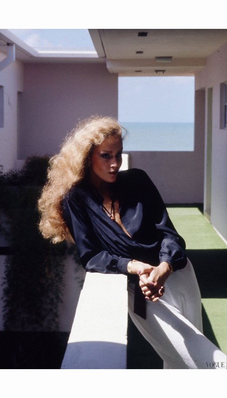 Jerry Hall Vogue, January 1975 Helmut Newton
