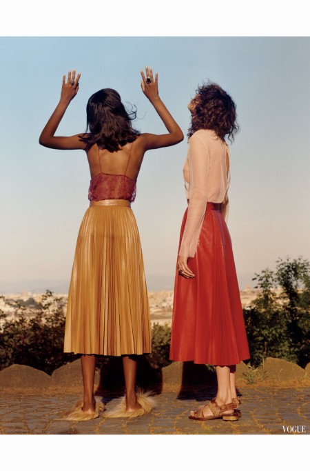Mica Argañaraz and Tami Williams  %22 House on Fire %22 Vogue US  2015 Jamie Hawkesworth