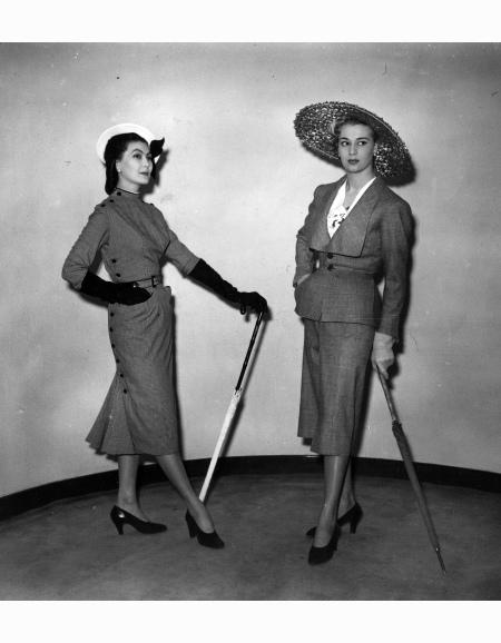 Model Christian Dior London Savoy Hotel 1950