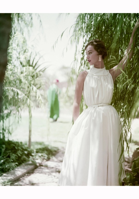 Model Wearing Cotton Dress by H & D 1953 Roger Prigent Corbis