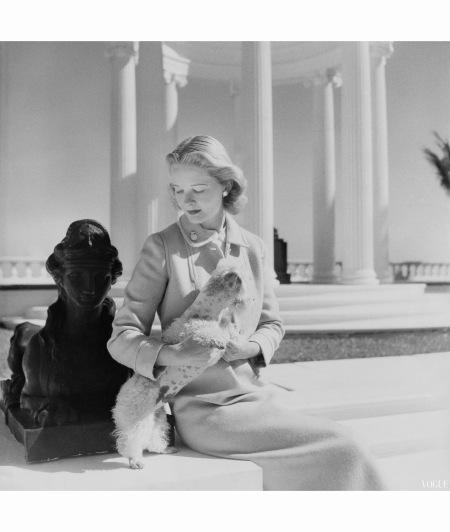 Palm Beach C Z Guest at Villa Artemis Vogue mar 1951 Cecil Beaton
