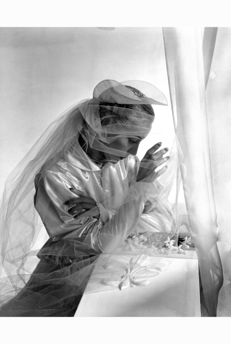 Satin wedding gown and veil, 1936 Horst P.Horst