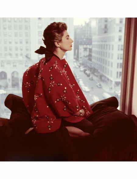Simonetta Colonna di Cesaro Fashion Designer 1952 Norman Parkinson