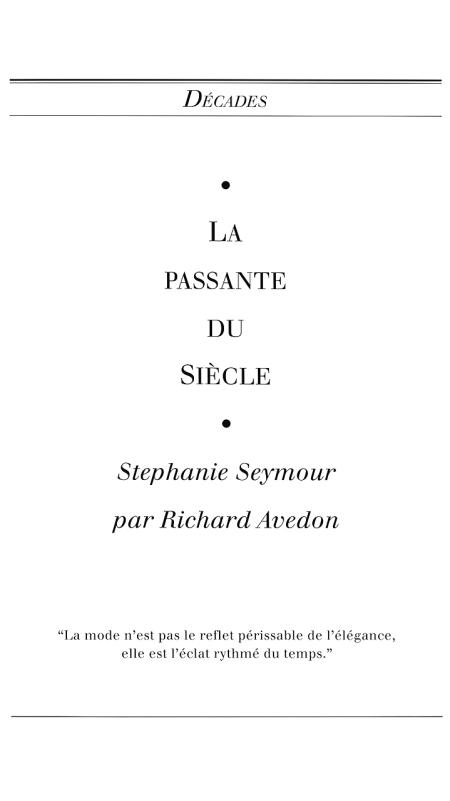 Stephanie Seymour Egoiste - Issue #13 of 1992 France