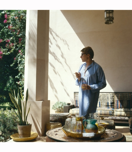 Yves Saint Laurent in his garden in Marrakech in a 1980 issue of Vogue Horst P. Horst, Vogue, August 1980