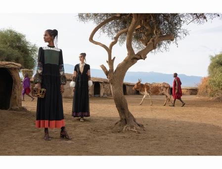 Alice Metza, Cameron Traiber, Greta Varlese, Kirin Dejonckheere, Tami Williams Valentino Spring:Summer 2016 © Steve McCurry e