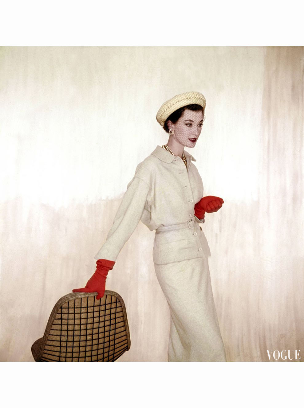clifford coffin © pleasurephoto pagina 3 barbara mullen wearing beige suit and blouse of wool and rabbit s hair by