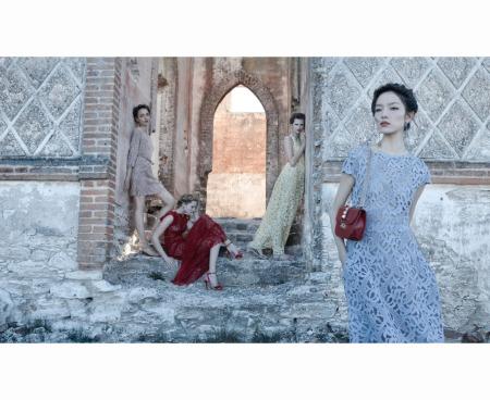 Bette Franke, Clement Chabernaud, Fei Fei Sun, Maud Franzen and Zuzanna Bijoch - Valentino S:S 2012 © Deborah Turbeville b