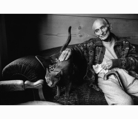 French painter Balthus at home, 1999