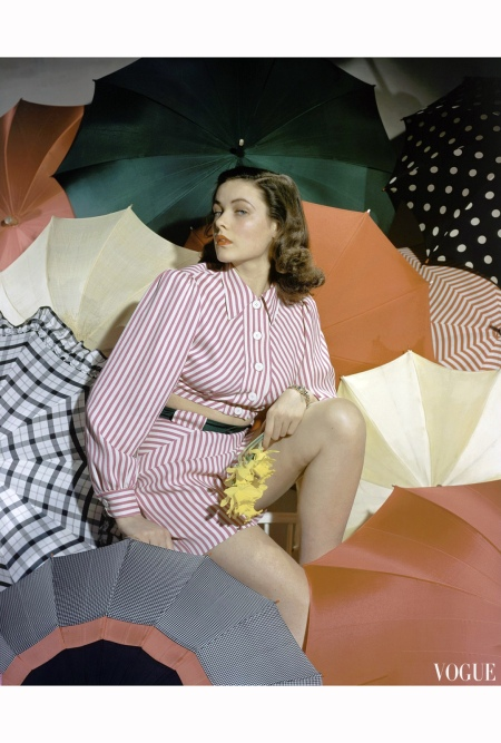 Gene Tierney Vogue May 1940 © Horst P.Horst