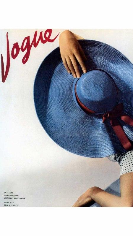Hat by Molyneux, Paris Vogue cover August 1936 Horst P. Horst