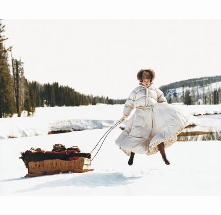 Karen Elson %22Cowgirl Hall Of Fame%22 Vogue oct 1999 © Arthur Elgort