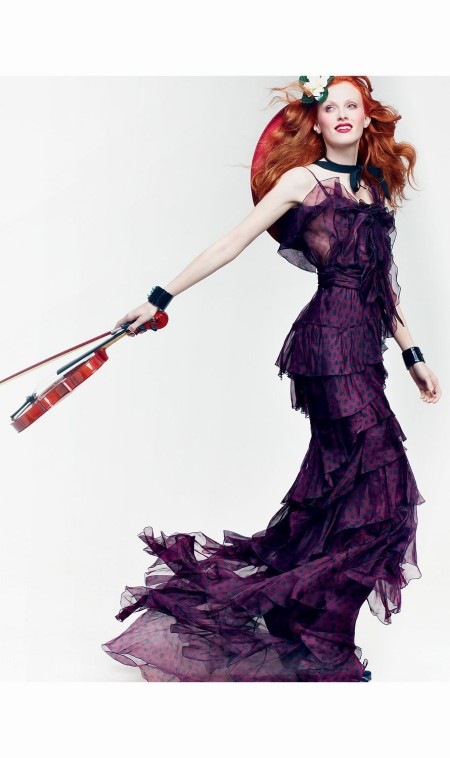 Karen Elson America the Beautiful Vogue, June 2011 © Craig Mc Dean a