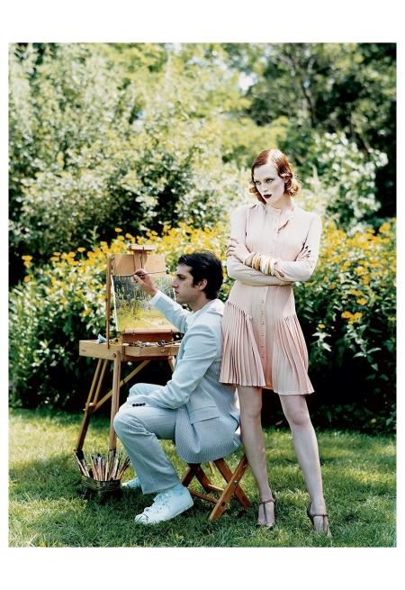 Karen Elson & Jhonny Zander 2003 Photo Arthur Elgort