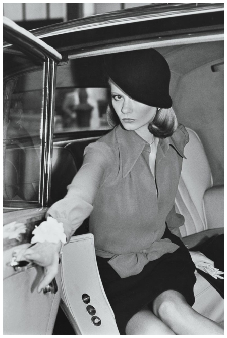 kourken-pakchanian-manhattan-new-york-city1973-model-wearing-a-chiffon-blouse-tied-at-the-waist-and-dark-worsted-skirt-by-john-anthony-with-a-dark-felt-hat-pulled-over-one-eye-by-don