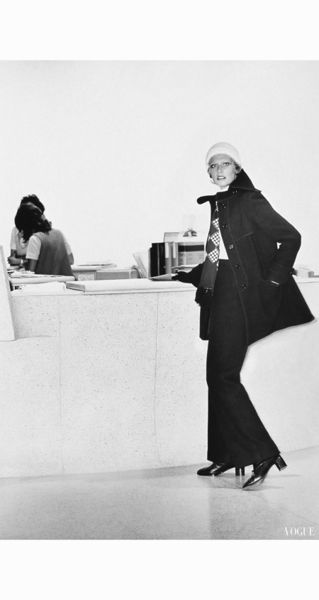 kourken-pakchanian-model-wearing-a-chopped-wool-coat-over-matching-wool-pants-by-calvin-klein-1972