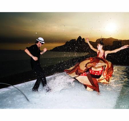Lapo Elkan and Doutzen Kroes in Brazil Vogue june 2007 Mario Testino