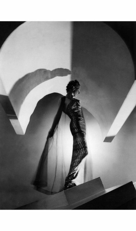 Lyla Zelensky in evening dress by Molyneux, photo by Horst, 1937 Horst P. Horst