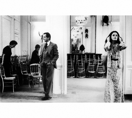 Marc Bohan and model, photographed by Deborah Turbeville for American Vogue, 1975
