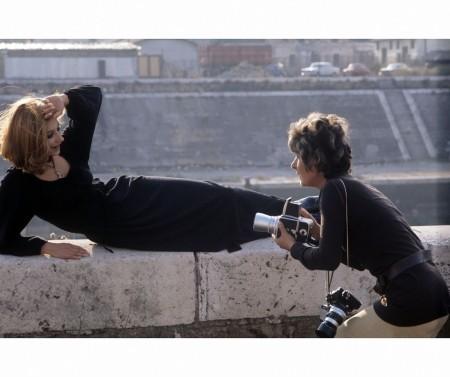 Marisa Rastellini Taking a picture of Raffaella Carrà 1970's