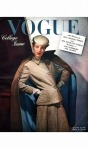 Model wearing corduroy suit, turquoise-lined coat, and gloves Vogue August 1942 © Horst P.Horst cover