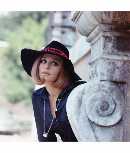 Raffaella Carrà Wearing a Hat 1970's Marisa Rastellini