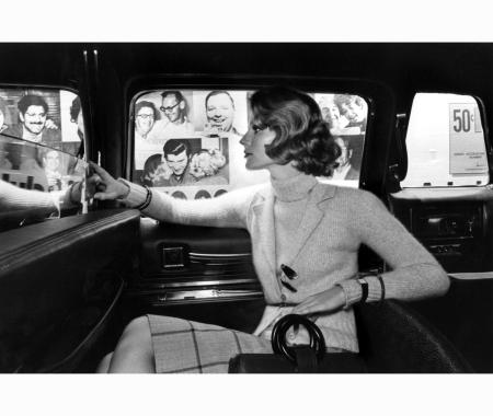 Shelley Smith & Beska Sorensen model wearing ribbed turtleneck and matching sweater jacket by Jane justin for don sports US Vogue August 1973 © Kourken Pakchanian