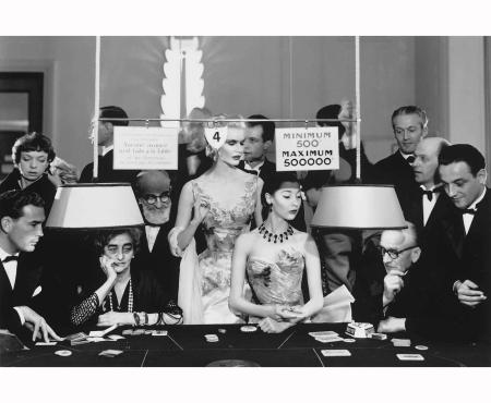 Sunny Harnett and Alla, Evening dresses by Balmain, Casino, Le Touquet, August 1954 - © Richard Avedon