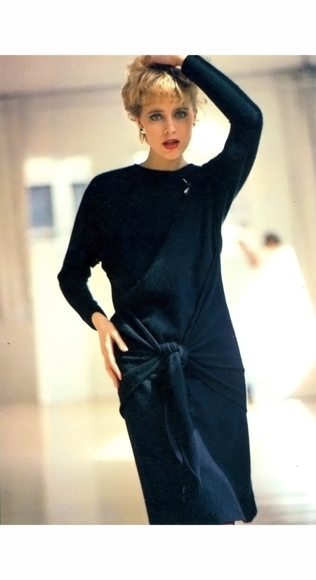 Susan Hess - Laura Biagiotti Vogue Italia 1980 © Arthur Elgort b