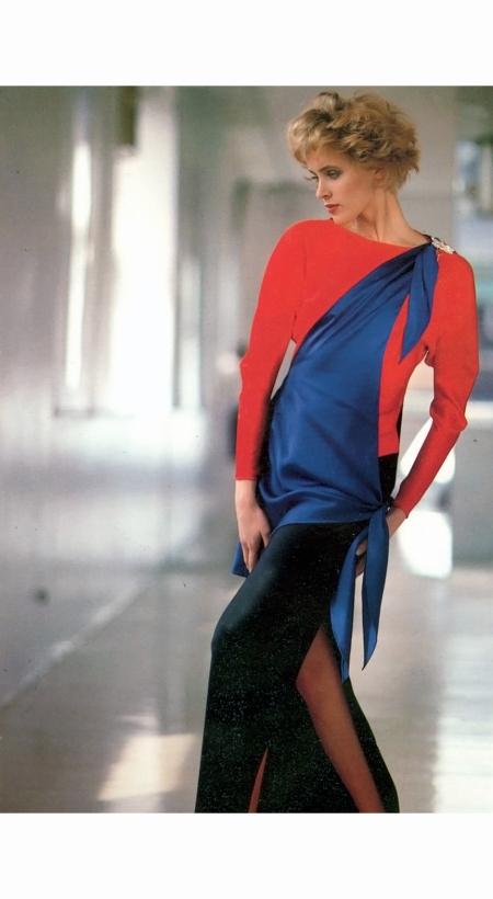Susan Hess - Laura Biagiotti Vogue Italia 1980 © Arthur Elgort