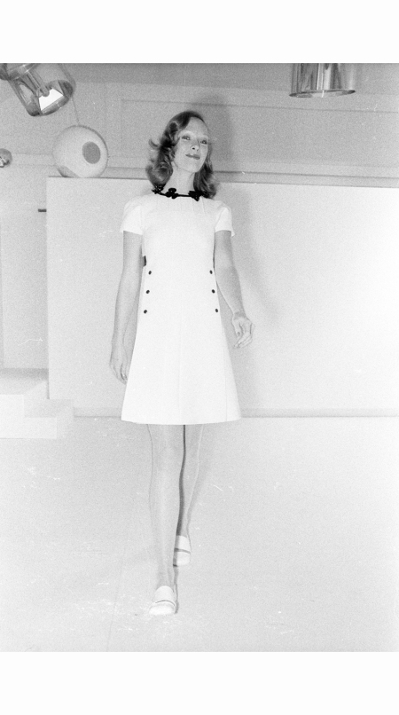 A Spring Couture 1973 look from André Courrèges b
