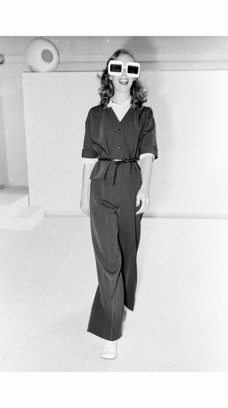 A Spring Couture 1973 look from André Courrèges