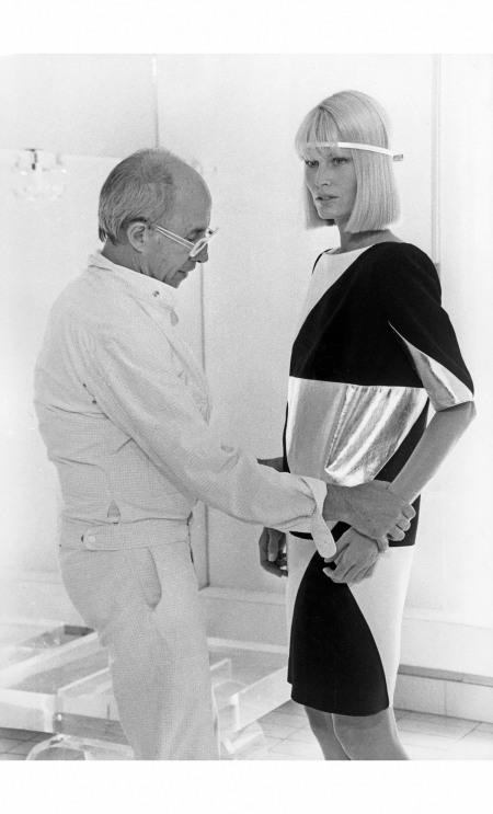 Andre Courreges - adjust Gunilla Lindblad July 1983