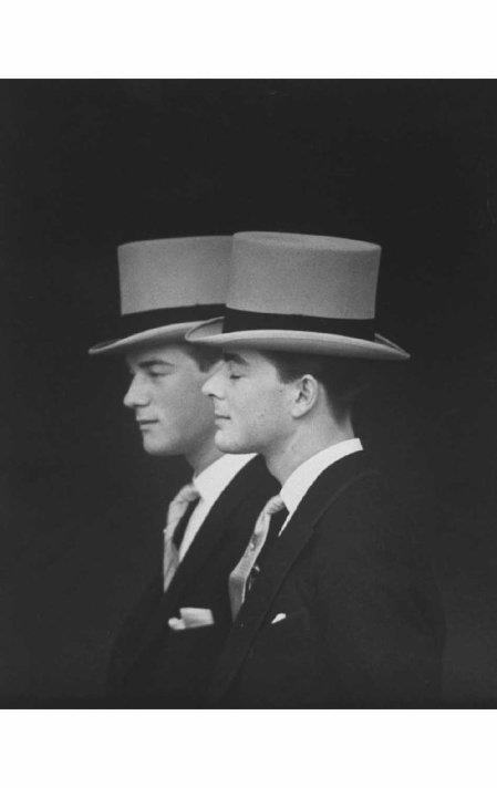 Anthony Armstrong-Jones' half brothers, Desmond Parsons & Lord Oxmantown at his wedding to Princess Margaret 1960 Loomis Dean
