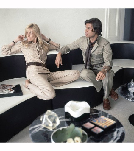 Betty and François Catroux in their previous apartment on Quai de Béthune, in 1972 © Francois Halard