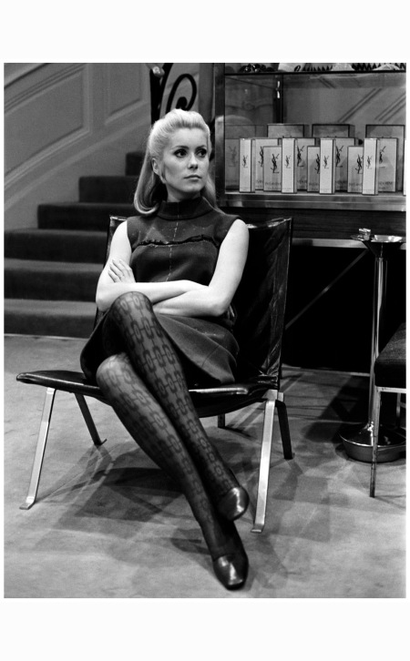 Catherine Deneuve in Home of Yves Saint Laurent,  1966