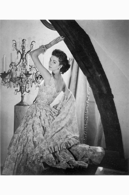 Suzy Parker wearing a gown by Griffe, 1954. © Henry Clarke