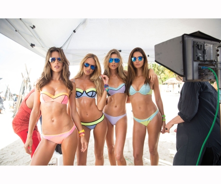 Victoria's Secret Swim TV Special Behind the Scenes Alessandra Ambrosio, Behati Prinsloo, Candice Swanepoel, Lily Aldridge Image - Wenn