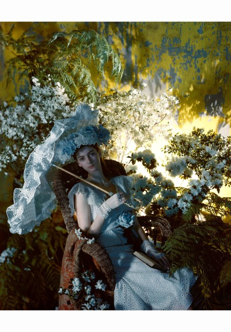 Carmen Dell'Orefice dres by Sophie saks Fifth Avenue Vogue and Tatiana du Plessix Hat July 1946 Cecil Beaton