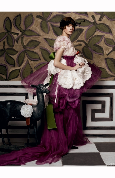 Natalia Vodianova Vogue May 2007 © Steven Meisel -lacroix-archival