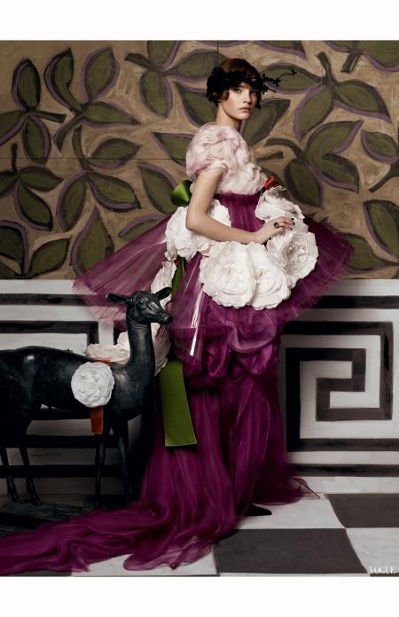 Natalia Vodianova Vogue May 2007 © Steven Meisel -lacroix-archival