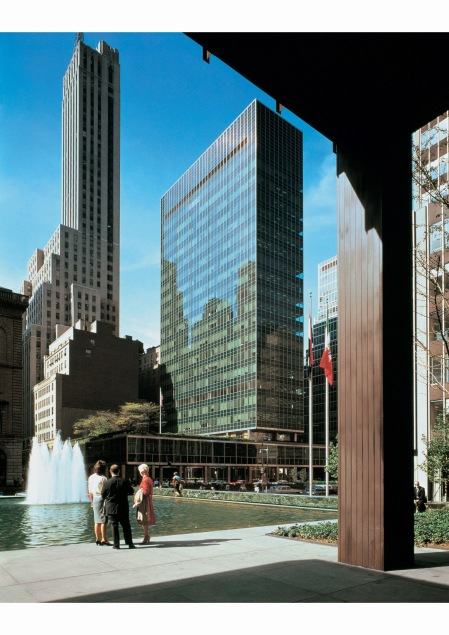 the-lever-house-by-gordon-bunshaft-viewed-through-the-colonnade-of-philip-johnsons-seagram-building-new-york-1959