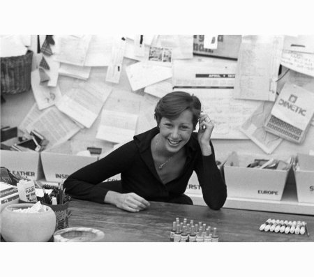 american-fashion-designer-donna-karan-being-interviewed-in-her-office-for-anne-klein-may-1976-sal-traina